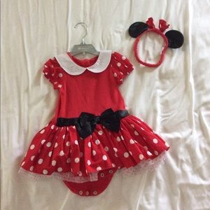 Minnie Mouse Halloween onesie